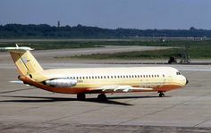 """Court Line BAC 111-518FG One-Eleven G-AXMH """"Halcyon Sun"""" taxiing at Milan-Linate, August 1973 (Photo: Piergiuliano Chesi)"""