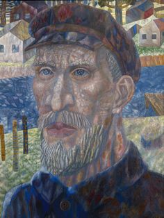 Pavel Filonov, Collective Farm Worker, 1931. The ambiguous expression in this peasant's eyes seems to capture the pain of Stalin's ruthless collectivisation of agriculture. State Russian Museum/Photo © 2016, State Russian Museum, St. Petersburg.