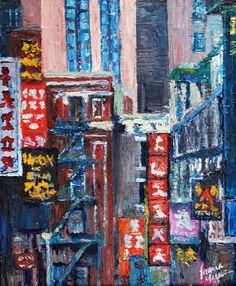 Chinatown, Oil on Canvas