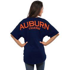 Auburn Tigers Women's Spirit Jersey Oversized T-Shirt - Navy