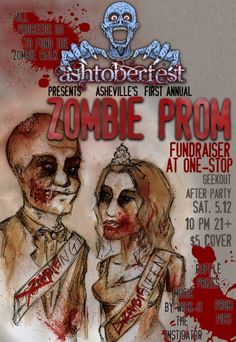 Zombie Prom Fundraiser Ideas - Another unique fun fundraising idea is doing a Zombie Prom fundraiser to raise funds. This zombie party idea works well for small groups like college clubs, fraternities, sororities, teen groups, sports teams, Relay For Life teams, or any other group that wants to have great time while raising money for their cause. Find more unique fundraising ideas at FundraiserHelp.com