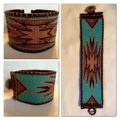 Custom Beadwork by irona. Indian Beadwork, Native Beadwork, Native American Beadwork, Loom Bracelet Patterns, Seed Bead Patterns, Beading Patterns, Native American Patterns, Native American Crafts, Beaded Braclets