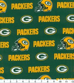 Green Bay Packers NFL Cotton Fabricby Fabric Traditions