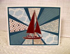 Ann Greenspan's Crafts: Just a few Sailboat cards