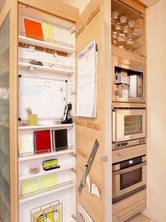 ► ► Mil ideas para la casa y el jardin ♥: Escritorio vertical de cocina ... mi sueño
