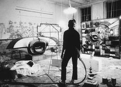 Lee Bontecou in her studio. Also cover of spoon album GA GA GA GA