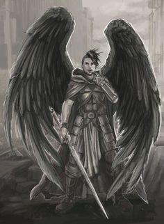 Warrior angel in post apocalyptic ruins by BrentWoodside.deviantart.com on @DeviantArt