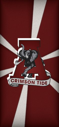 Alabama Crimson Tide Wahol/'s Bama Logo Saban Print