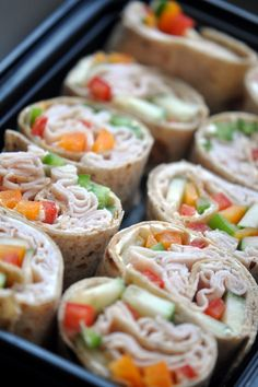 Turkey Veggie Roll Ups [recipe here: http://www.foxnews.com/leisure/2011/09/09/healthy-school-lunch-recipes-for-even-pickiest-eaters/]