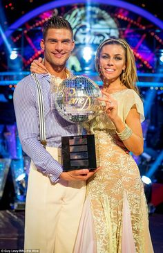 Champions: Abbey Clancy with her dance partner Aljaz Skorjanec were crowned winners of Strictly Come Dancing 2013