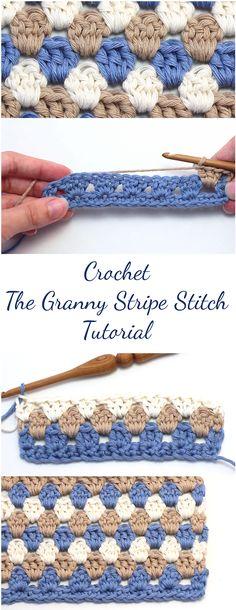 Crochet The Granny Stripe Stitch Tutorial