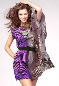 In LOVE with this purple BeBe dress #style #fashion