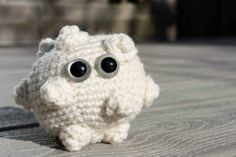 7. White Blood Cell Amigurumi --------------- Key: Crafts, Amigurumi, Needlecraft, Blood Cells, Science, Plushie, Cute, Geek