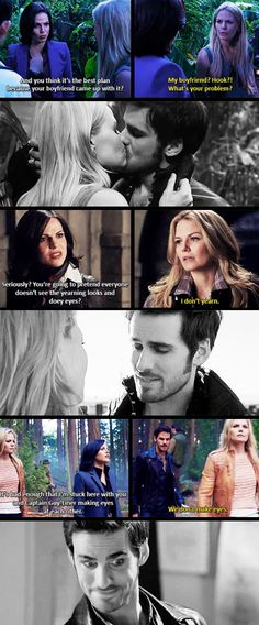 Regina pointing out to Emma the obvious chemistry between Killian and Emma <3