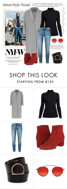 """""""NYFW Street Style Trend ... Day 2"""" by conch-lady ❤ liked on Polyvore featuring Victoria Beckham, Topshop, Rumour London, Current/Elliott, Sam Edelman, Salvatore Ferragamo, Illesteva, StreetStyle and NYFW"""