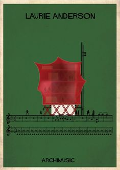 "ARCHIMUSIC: Illustrations Turn Music Into Architecture - Federico Babina / Laurie Anderson, ""O superman"""