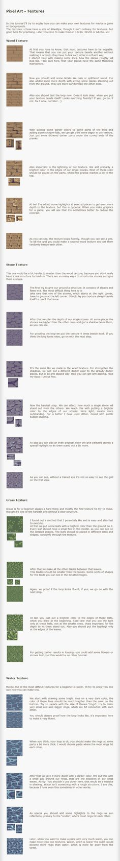 http://kiwinuptuo.deviantart.com/art/Pixel-Art-Tutorial-Textures-203459613: