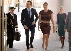 Crown Princess Victoria and Prince Daniel attended an export seminar at Grand Hotel, Stockholm.