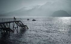 Dos en la niebla - Donostia -