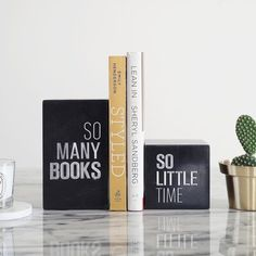 Industrial Bookends, Wooden Bookends, Home Office Table, Modern Books, Gifts For Bookworms, Book Stands, Craft Corner, Black Marble, Book Worms