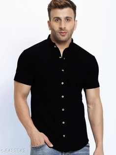 Checkout this latest Shirts Product Name: *New Stylish Men's Shirt * Fabric: Cotton Sleeve Length: Short Sleeves Pattern: Solid Multipack: 1 Sizes: S (Chest Size: 39 in, Length Size: 29.5 in)  M (Chest Size: 41 in, Length Size: 30 in)  L (Chest Size: 43 in, Length Size: 30.5 in)  XL (Chest Size: 45 in, Length Size: 29.5 in)  Easy Returns Available In Case Of Any Issue   Catalog Rating: ★4 (300)  Catalog Name: New Stylish Men's Shirt CatalogID_1032120 C70-SC1206 Code: 383-6483542-129