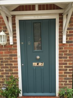 front door in farrow and ball cook 39 s blue farrow and ball. Black Bedroom Furniture Sets. Home Design Ideas