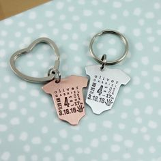 Baby Announcement Baby Statistics Stats Keyring Keychain New Baby Gift for Dad Baby Gift for Mom Baby Weight Time Date Keepsake Baby Memento by TagYoureItJewelry on Etsy https://www.etsy.com/listing/273314374/baby-announcement-baby-statistics-stats
