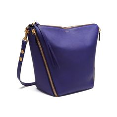 Shop the Camden bag in Indigo Small Classic Grain leather, new for Autumn Winter 2016, the Camden is a slouchy hobo style shoulder bag with statement zips inspired by British punk rock culture. The zips travel down the sides and to the base of the bag where they fix together.