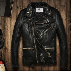 >> Click to Buy << 2016 Vintage BLACK flight bomber jacket sheepskin cowskin fur coat collar pilot leather jacket mens male boys motorcycle blazer #Affiliate