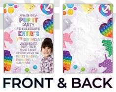 Photo Invitations, Digital Invitations, Birthday Party Invitations, Photo Booth Frame, Flamingo Party, Elements Of Design, Photo Logo, Fidget Toys, 9th Birthday