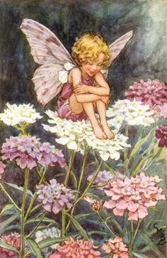 Love this vintage fairy artwork for a little girl's room