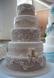 beige and white cake