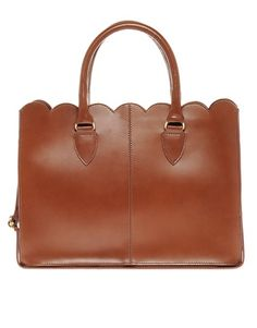 ASOS leather Scallop Edge Shopper