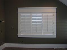 Craftsman style window trim.