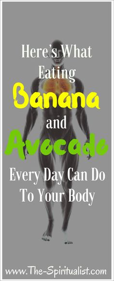 + Avocado = This is What Will Happen to Your Body?Banana + Avocado = This is What Will Happen to Your Body? Health And Fitness Tips, Nutrition Tips, Healthy Nutrition, Health Diet, Healthy Tips, Health And Wellness, Healthy Food, Healthy Detox, Nutrition Education