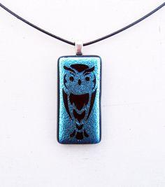 Owl Fused Glass Pendant by FusedElegance on DeviantArt