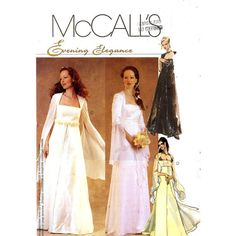 Romantic Medieval style Wedding dress sewing pattern McCalls 3010 Sz 10 to 14 via Etsy