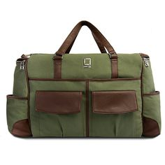 Lencca Green and Brown Alpaque Duffel Water-Resistant Luggage Laptop Bag for Dell XPS / Chromebook / Inspiron / Vostro / Latitude / Alienware >>> Check out the image by visiting the link.