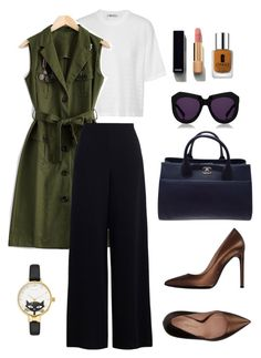 """""""Office Outfits"""" by trend-anonymous on Polyvore featuring T By Alexander Wang, Chanel, Karen Walker, Kate Spade, Clinique, Zimmermann, Marco Barbabella, polyvoreeditorial, officeOutfit and warmseptember"""
