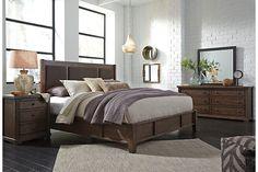 Medium Brown Zenfield Queen Panel Bed View 6