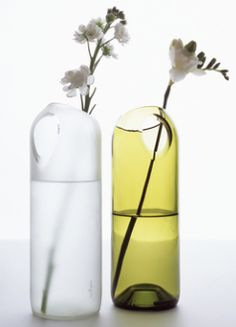 Beautiful recycled glass vase