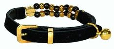 Hamilton Suede Cat Collar with Beads 38 X 11 Black * You can find more details by visiting the image link.(This is an Amazon affiliate link)