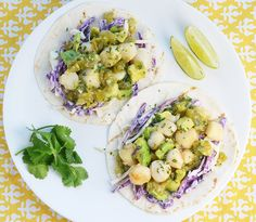 scallop tacos with salsa verde scallop tacos with salsa verde more ...