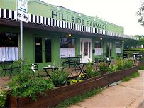 Hillside Farmacy Cafe, rennovated historic drugstore in East Austin (Texas). Visit Austin, Austin Tx, Country Pate, Sidewalk Cafe, 1950s House, Wine And Spirits, Oysters, Places To Visit, Restaurant