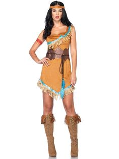 Women's Indian Princess Halloween Costume.   PIN10 for 10% off! Leg Avenue Disney Princesses Pocahontas Costume available at Teezerscostumes.com