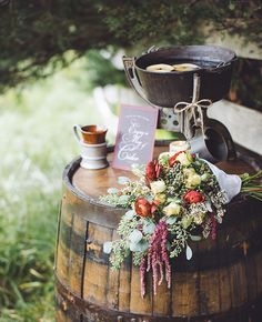 Hot Pre-Ceremony Drinks from aster & olive photography | blog.theknot.com