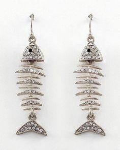 Fish Bone Dangle Earrings