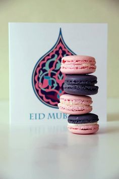 Eid macaron set ~ the colours Eid Holiday, Festive, Eid Greeting Cards, Eid Mubark, Islamic Celebrations, Ramadan Cards, Eid Crafts, Happy Eid Mubarak, Eid Greetings