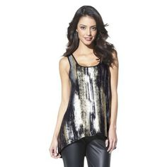 Mossimo® Women's High Low Foil Tank - Assorted Colors