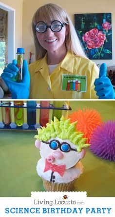 Boy or girl parties could have fun with a scientist themed party!